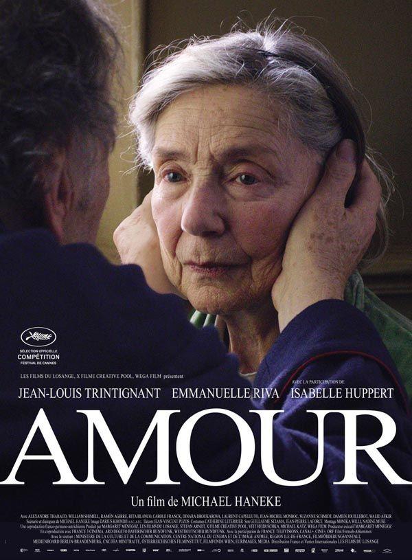 """Amour - Michael Haneke 2012 - Won 1 Oscar, another 50 wins & 41 nominations -- """"Georges & Anne ont vécu un mariage d'amour tout au long de leur vie. Bien que leur affection ait résisté au passage du temps, elle est sur le point de relever son plus grand défi."""""""