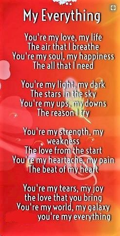 Youre My Everything | C to my wife | Love Quotes, Love