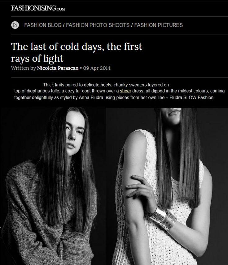photo shoot of Fludra Slow Fashion SS14 collection on fashionising.com, designer, styling, photo shoot production Anna Fludra, photo @moonsafaripix