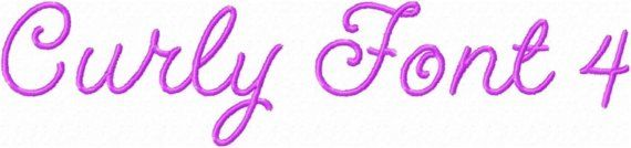 Curly Font 4 Machine Embroidery Monogram by SimplySweetEmbroider, $10.00