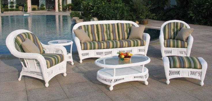 White Wicker Outdoor Furniture Sets