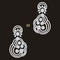 diamond dangling earrings designs - Google Search