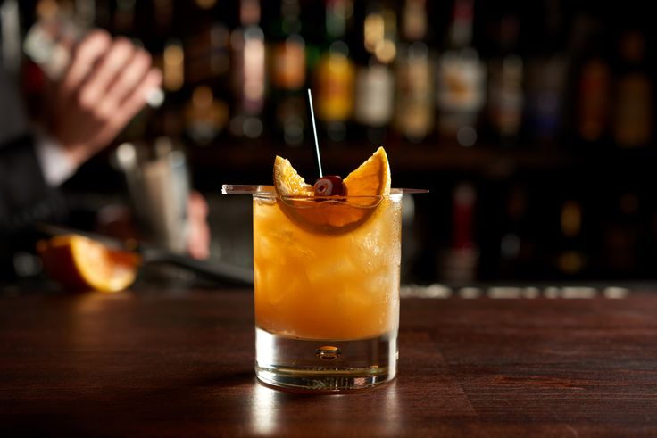 The Union League of Philadelphia Special. Union League members have enjoyed this cocktail since the early 19th century.   Recipe: 1 1/4 oz. Myers Rum, 3/4 oz. Rye (Old Overholt), 1/2 oz. Combier (Orange Liqueur), 1/2 oz. fresh lemon juice, 1 oz. orange juice, 3/4 oz. simple syrup. Garnish with an orange and cherry.