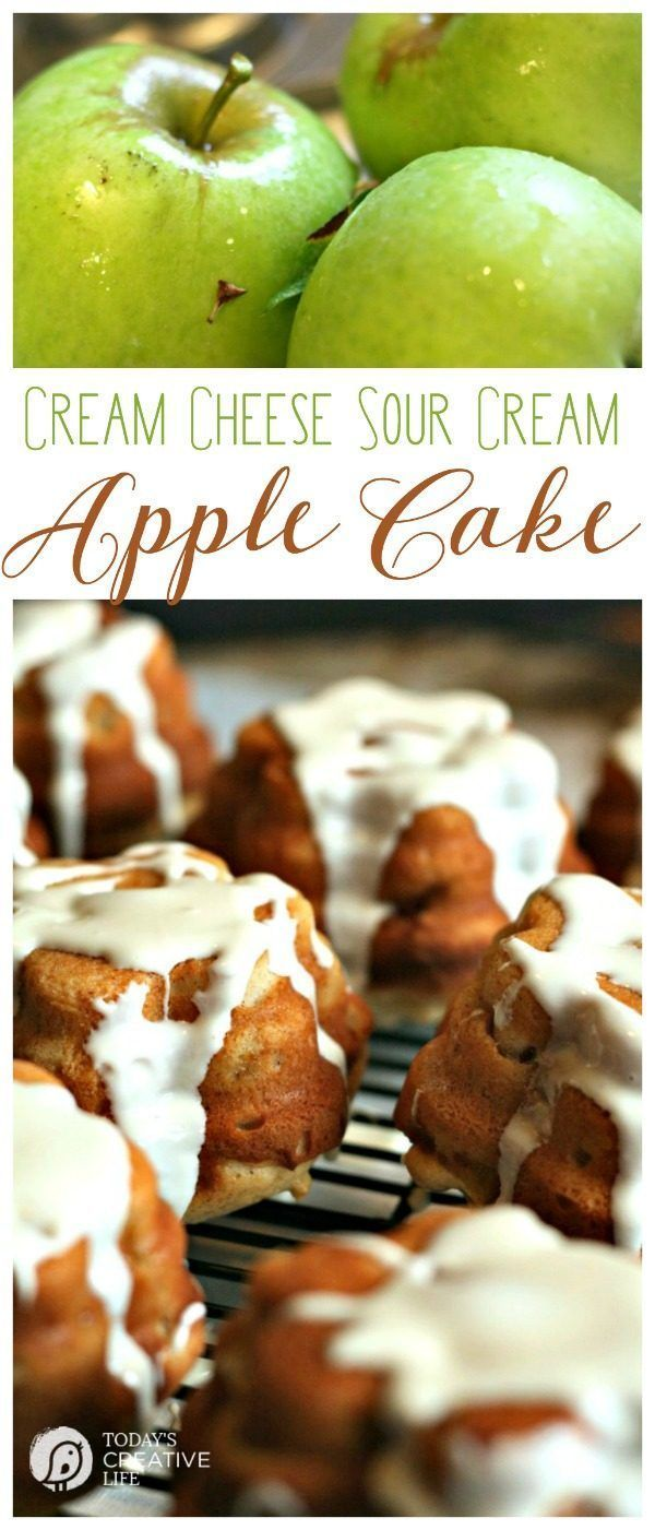 Cream Cheese Sour Cream Apple Cake