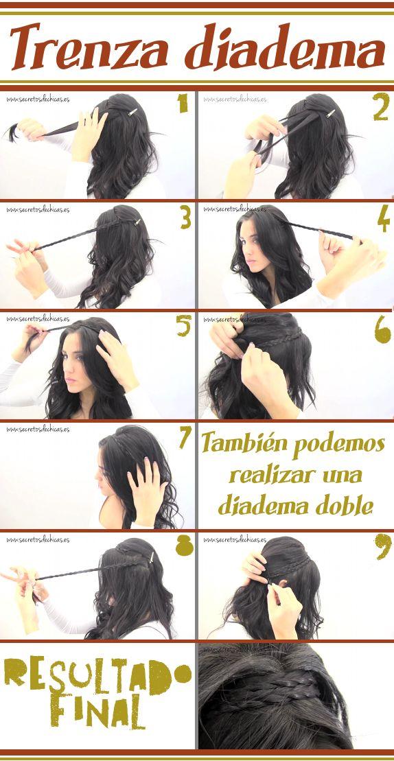 peinados con trenzas y pelo suelto para adolescentes paso a paso 3