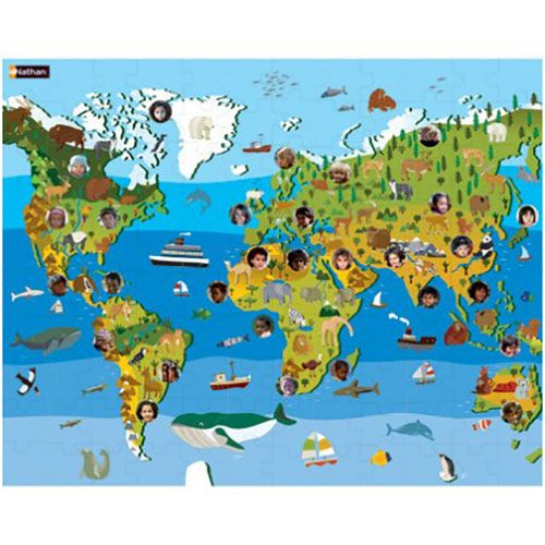 Children of the World Puzzle - Discover continents, plants, animals and children from around the world.