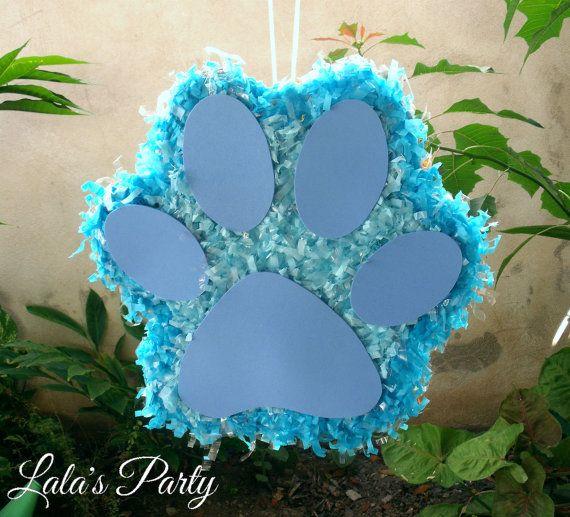 Puppy Paw Print Hit Pinata Dog Theme Party Puppies Theme Pinata on Etsy, $57.00