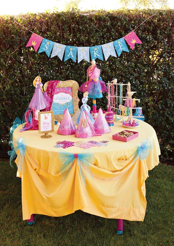 Sparkly Disney Princess Party Glitter Station