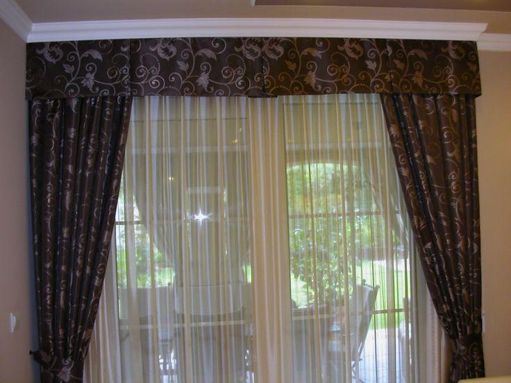 Klasszikus mintájú sötétítő függöny, bélelve, két oldalra fixen kikötve (Paradise Sf 0170), Fényáteresztő függöny (Plain színátmenetes félorganza függöny