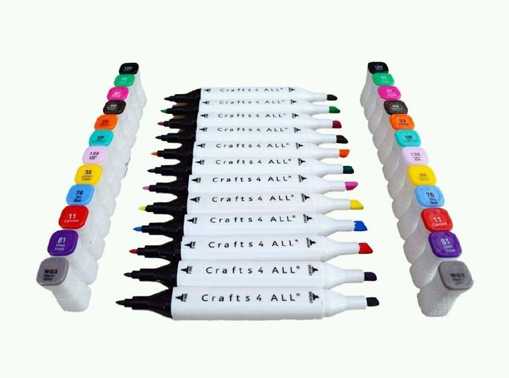 Crafts 4 all fabric markers permanent 12 pack premium