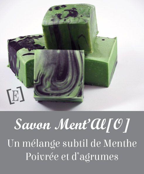 Il n'y a rien de plus rafraîchissant que les huiles essentielles de Menthe Poivrée et de Litsée Citronnée qui se marient parfaitement dans ce savon. #Savon #Fait main #Huiles essentielles