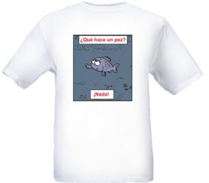 It's my fish joke...on a t-shirt!! :D  I need this...