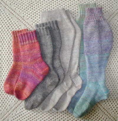 Handspun, handknit socks