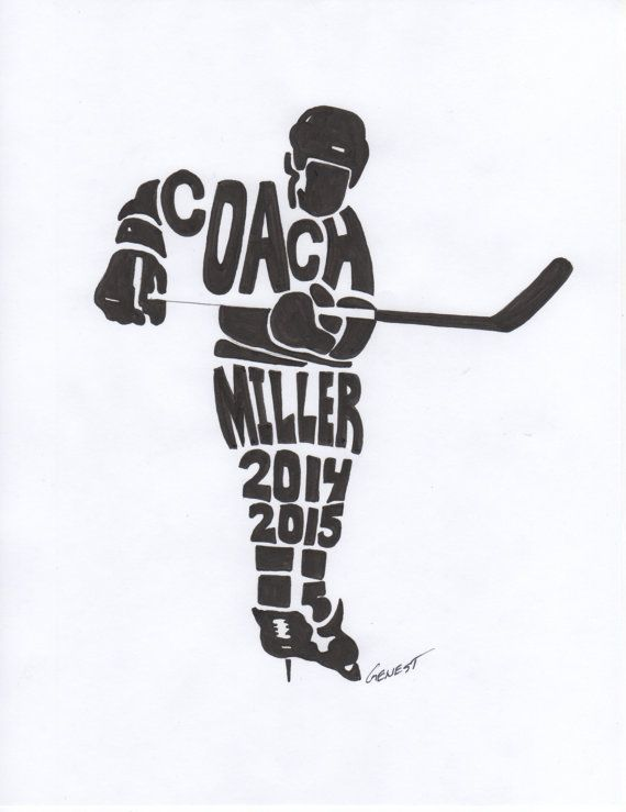 Personalized Sport Figure Hockey Coach H110 by rongenest