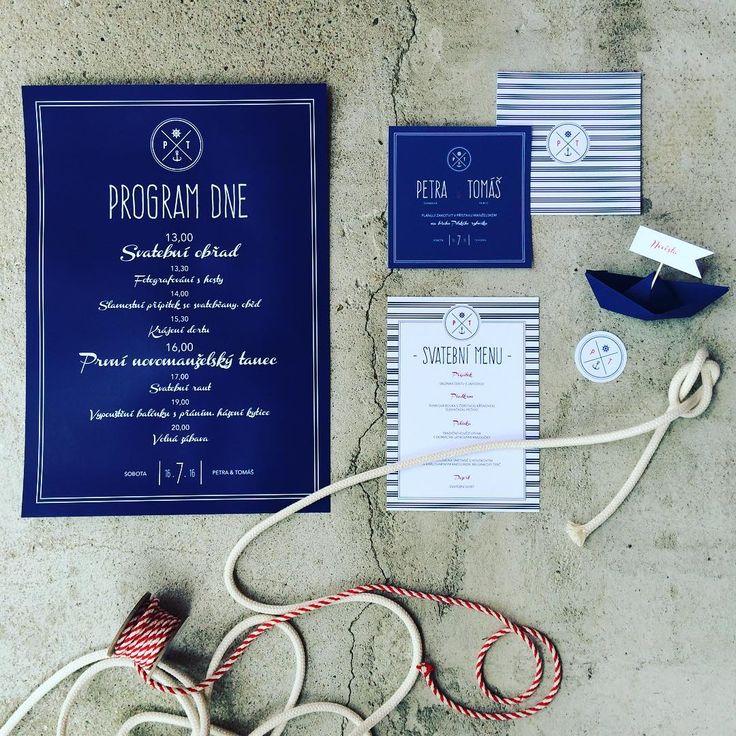Námořnická svatba! ⛵️ #svatbadesign #graphicdesign #stationery