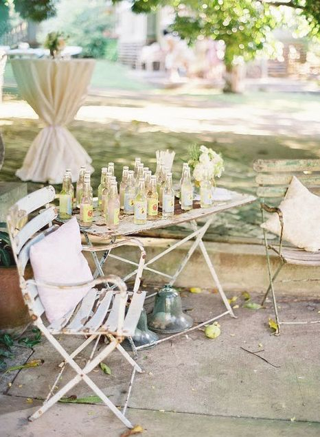 random things....love this: Charming Rustic Vintage, Idea, Outdoor Living, Bistro Chairs, Outdoor Tables, Photo