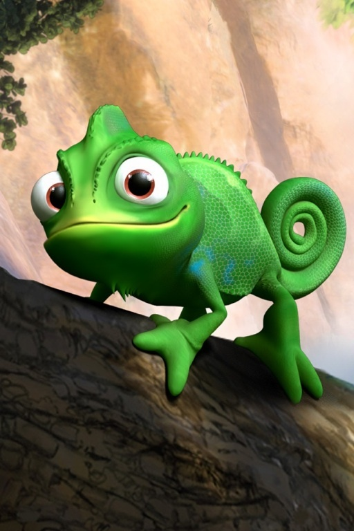 DAY 7: My favorite sidekick is Pascal from Disney's Tangled.