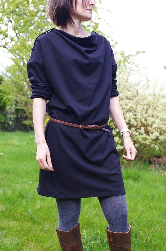 Robe à encolure bénitier, d'après le modèle 8B du BURDA Couture Facile, Printemps-Eté 2010, Hors Série n°27H, Grains de Maïs