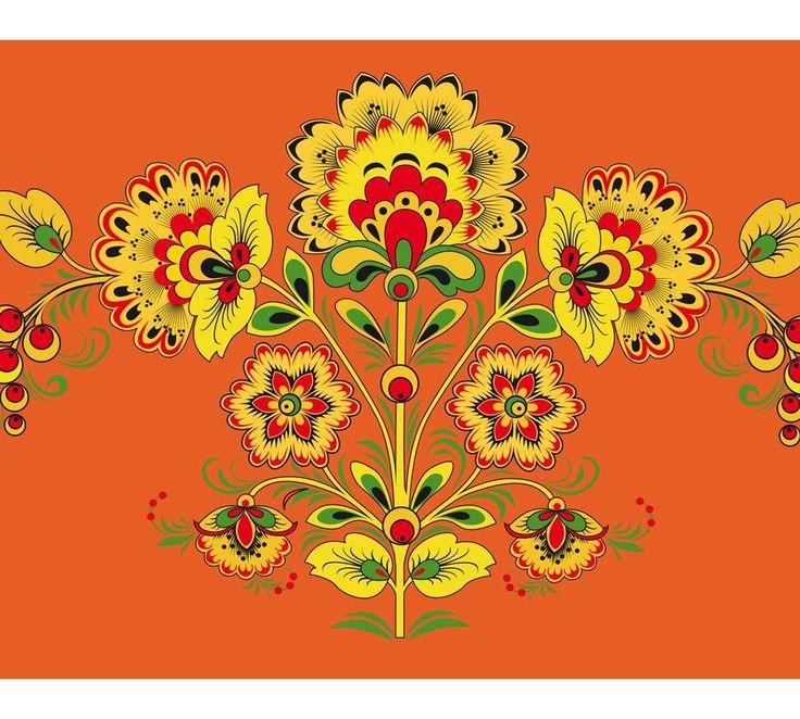 Новогодняя открытка, русско народная открытка шаблон