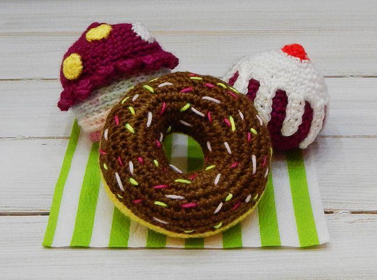 Zabawka dla dziecka - babeczki - komplet (3szt.) - mellcja - Maskotki i pluszaki