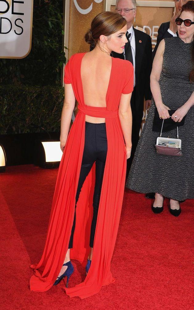 Emma Watson Golden Globes Red Carpet 2014