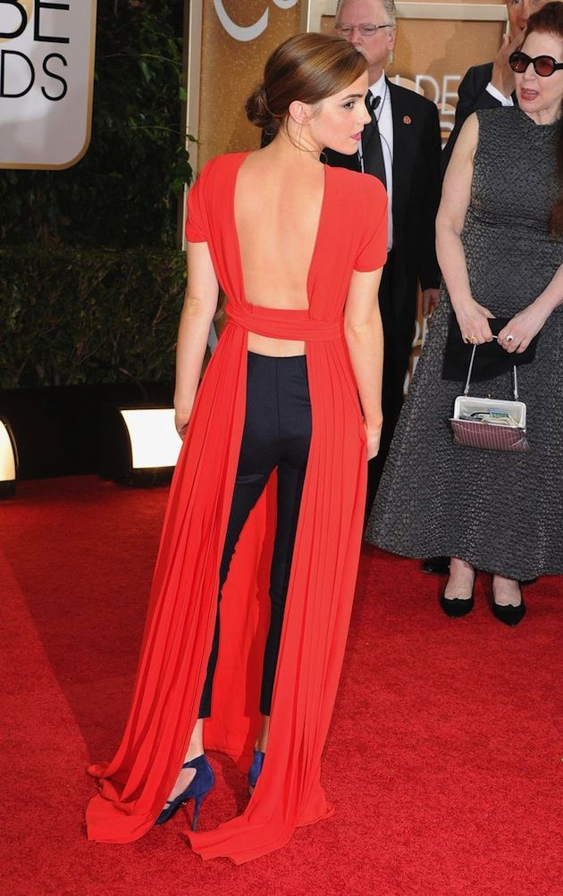 Emma Watson Golden Globes Red Carpet 2014