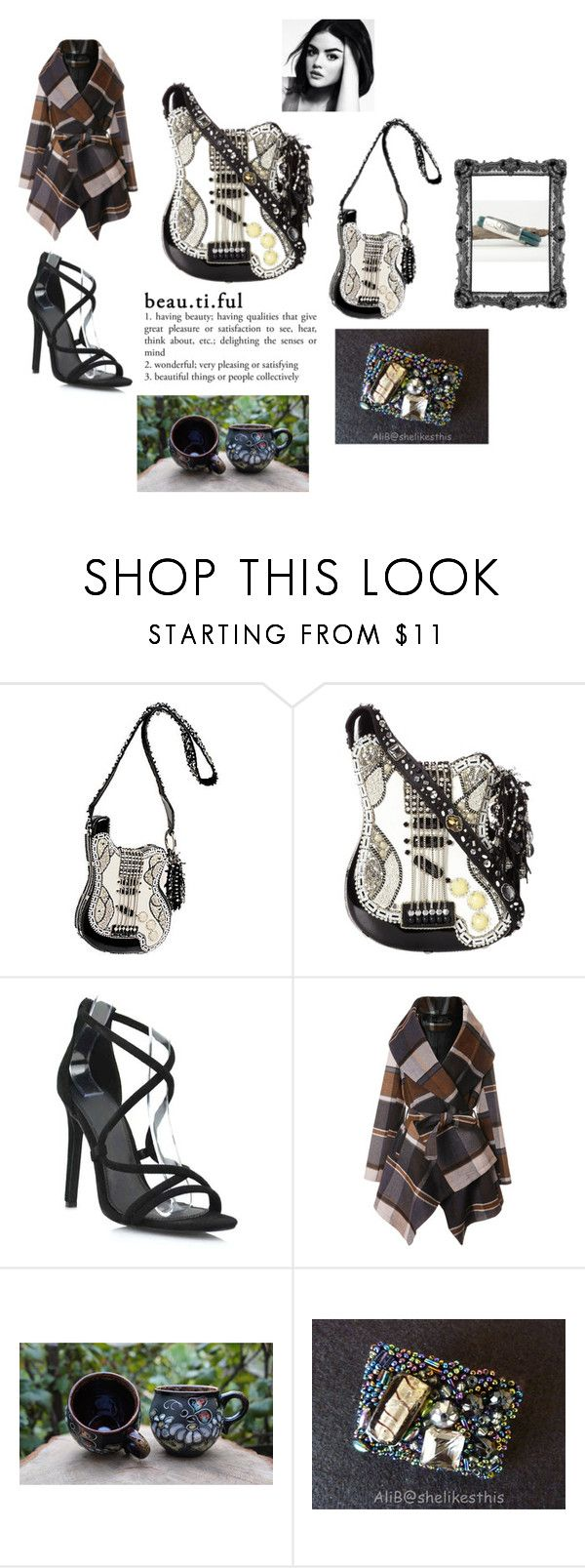 """""""She Loves Her Mary Frances Bag"""" by rocky-springs-vintage ❤ liked on Polyvore featuring Mary Frances Accessories and Chicwish"""