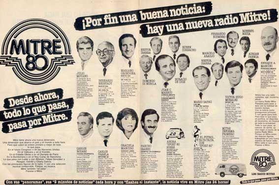 Radio MITRE, Buenos Aires, programación 1983.
