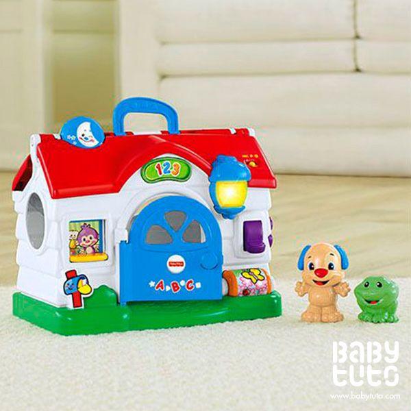 Casa de perrito. Ríe y aprende, $22.990 (precio referencial). Marca Fisher Price: http://bbt.to/18OrQYp
