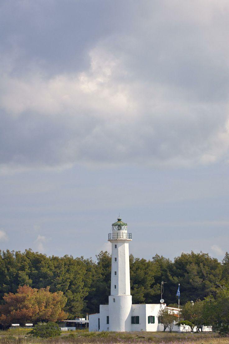 The lighthouse of Possidi cape, Kassandra, Halkidiki, Greece