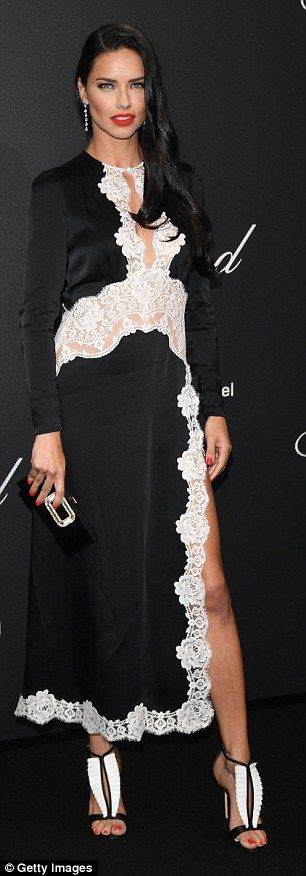Adriana Lima and Kate Moss rock Chopard bash at Cannes | Daily Mail Online