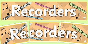 Music Recorders Display Banner - music, recorders, music recorders, display…