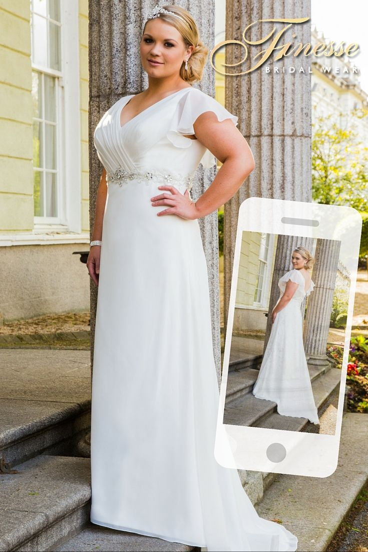 Back and Front of a fab plus size Wedding Dress exclusively from Finesse Bridal Wear in Listowel, Co Kerry, Ireland #FullerFigure