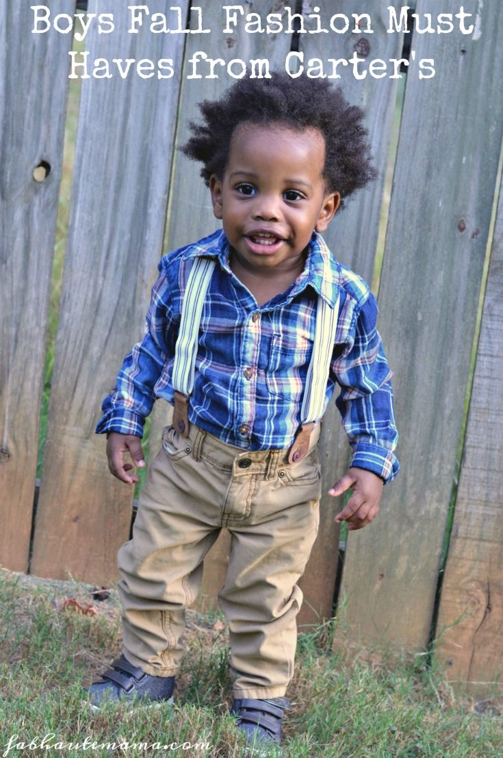 Boys Fall Fashion must haves from Carter's