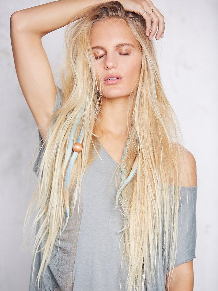 Best 25 dreadlock extensions ideas on pinterest dread hair free people wool dreadlock clip in extensions 10 pack by purple finch see more pmusecretfo Gallery