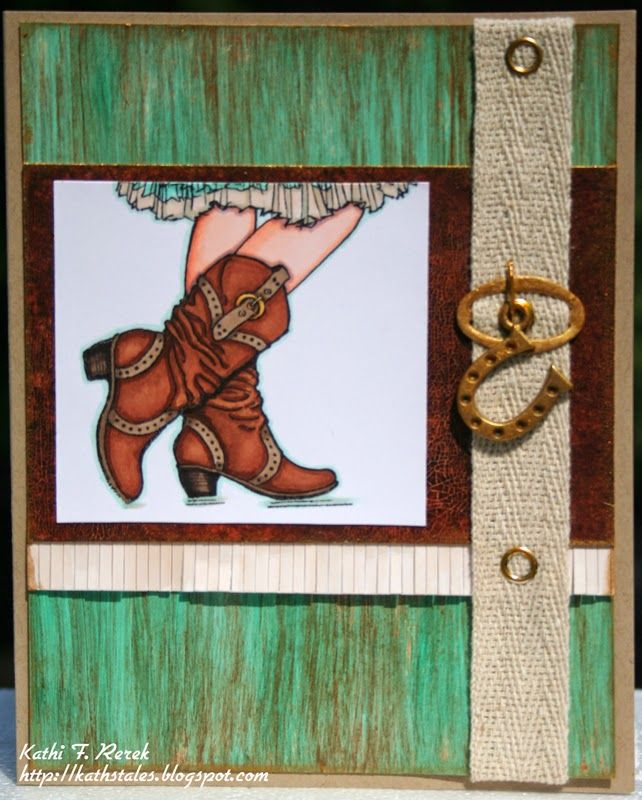 #cre8time for cowgirls! Kat's Tales of Stamping & Scrapping: #DecoArt, #Stampendous, & #PrincetonArtistBrush Co: Perfect together!