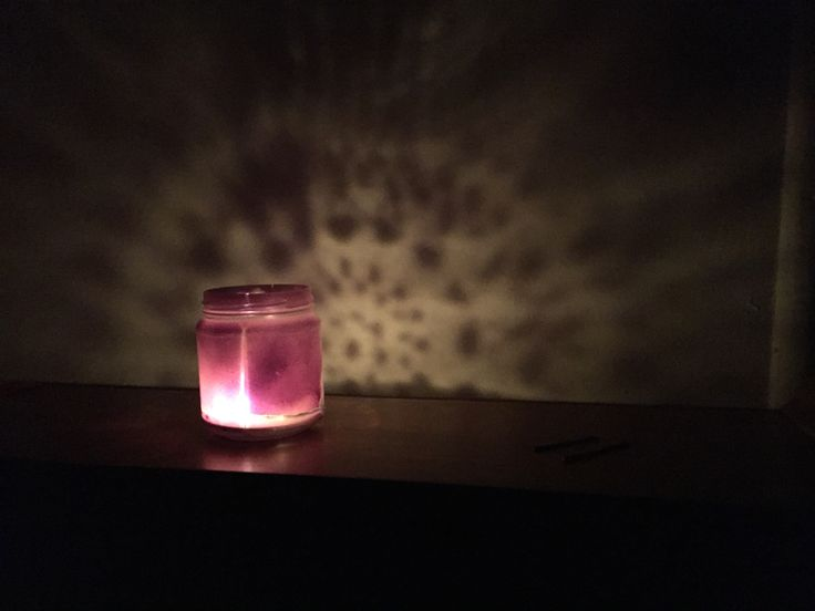 Remove label from jar, place doily over one side, spray paint all over. Allow to dry, remove doily, turn pattern side to wall (doesn't matter if messy as will still have great effect), place candle in holder and voila. Illuminated pattern on wall!!