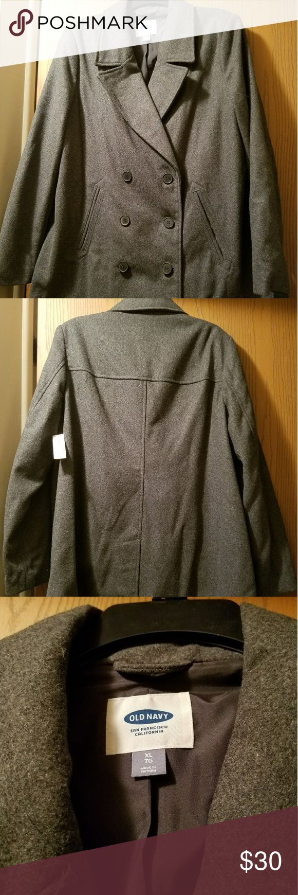 Old Navy Gray Wool Peacoat Old Navy Gray Wool Peacoat Old Navy Jackets & Coats Pea Coats