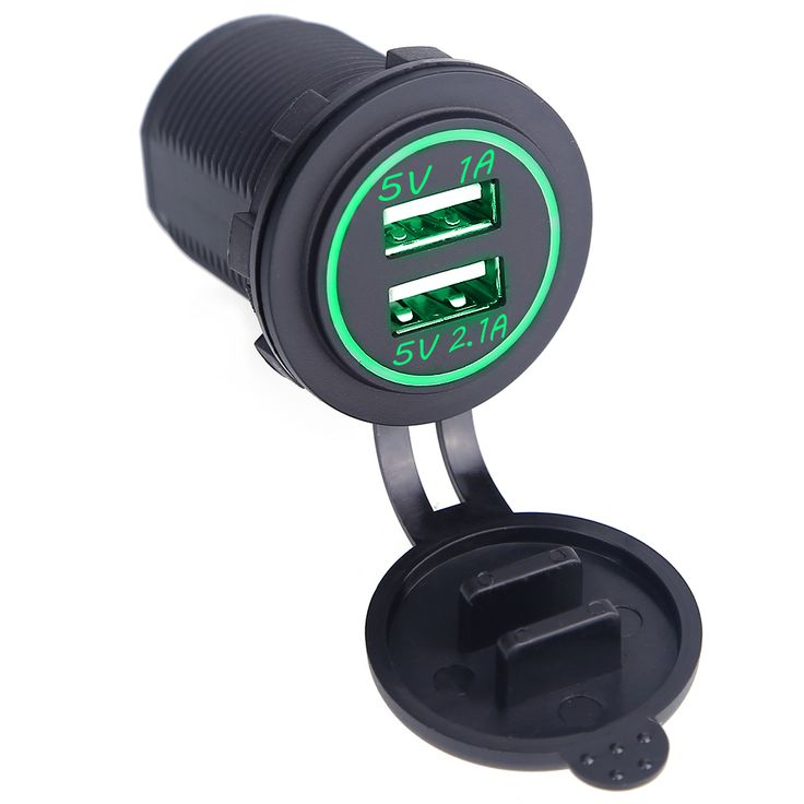 Waterproof Dual Usb Port Car Charger Adapter Dust-Proof 5V 2.1A/1A Universal Car Charger Socket for Citroen Honda Toyota
