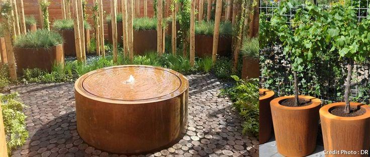 les 25 meilleures id es de la cat gorie jardini res en acier corten sur pinterest acier corten. Black Bedroom Furniture Sets. Home Design Ideas