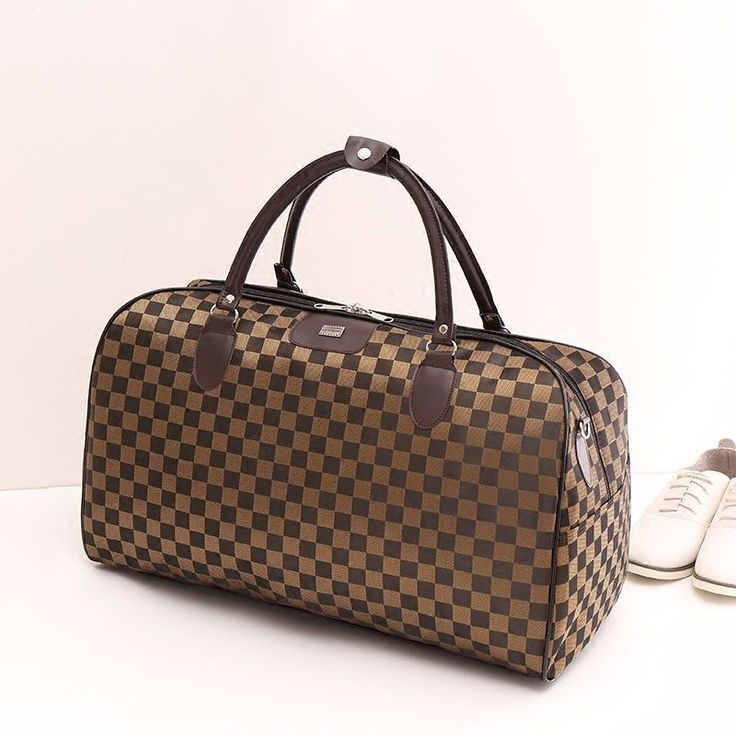 New Fashion Nylon Coffee Plaid Women Luggage Travel Bags http://mobwizard.com/product/2016-new-fashion-nyl32647668141/