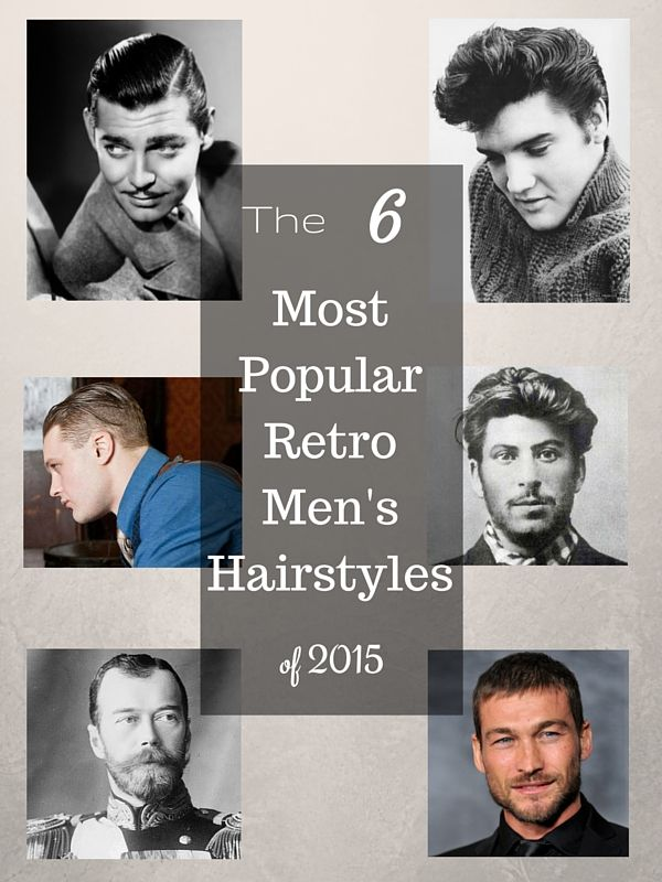 These vintage men's hairstyles never really go out of fashion. But they are back in a big way lately.  The 6 Most Popular Retro Men's Haircuts.