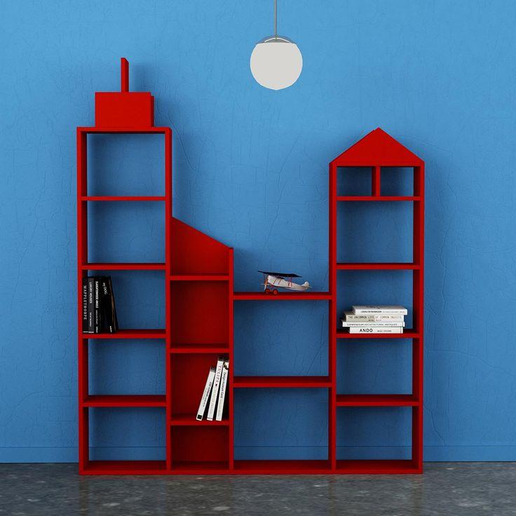 Immagina.. Puoi! Con questa libreria porti la grande citta' direttamente nella tua stanza. Realizzata in nobilitato melaminico 18 mm. Per la pulizia si consiglia di utilizzare un panno umido.