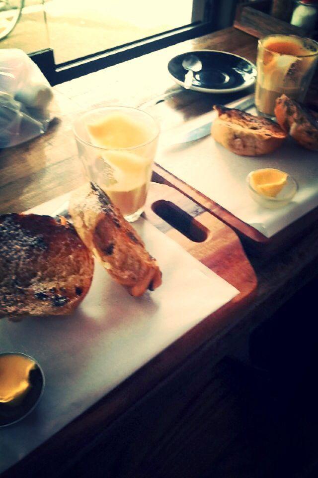 Spilt milk - Easter hot cross bun & awesome hot latte