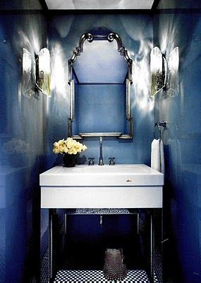 1000 ideas about blue powder rooms on pinterest powder for Powder blue bathroom ideas