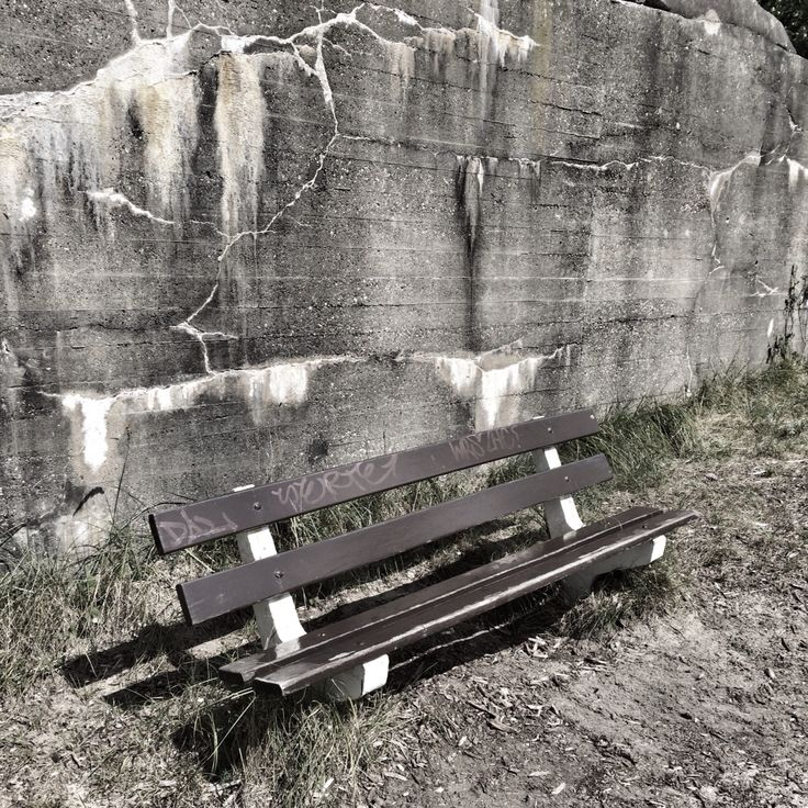 Graffiti op bankje