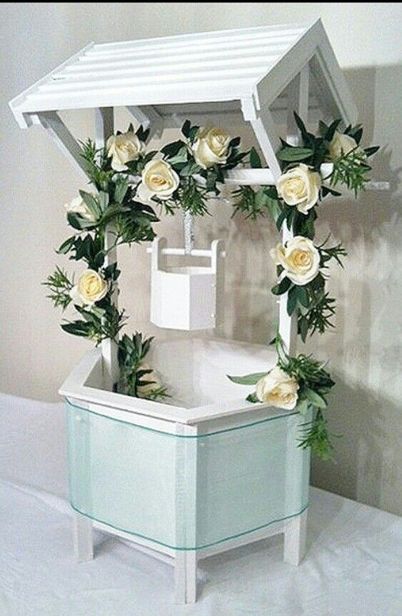 Wedding wishing well ♥♥♥ How pretty when it\'s decorated with the ...