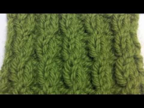 How to Knit The Twisted Cable Rib Stitch - YouTube