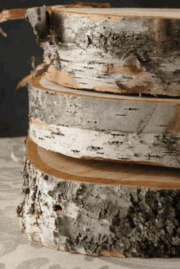 """Birch Tree Slices 11-15"""" Round Natural"""