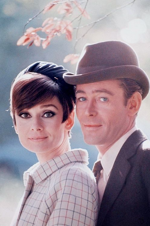 """Audrey Hepburn and Peter O'Toole    """"How To Steal a Million"""", 1966.   so cute"""